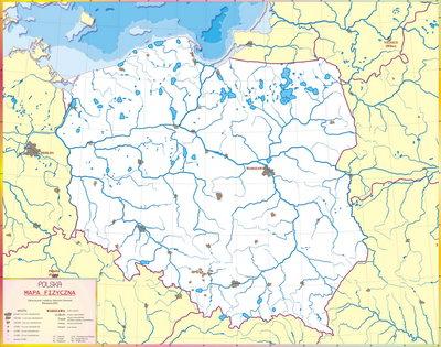 Mapa Konturowa Fizyczna Polski Europy Wiata Afryki Azji ...